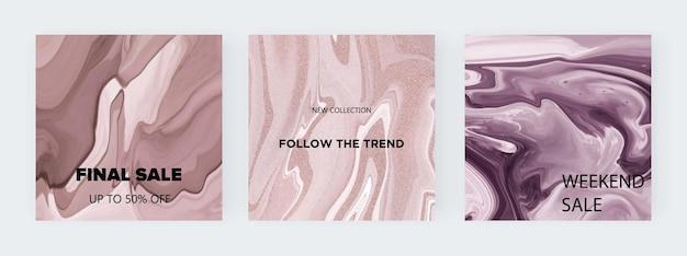 Texture liquida nuda per i social media