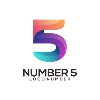Gradiente colorato logo numero 5
