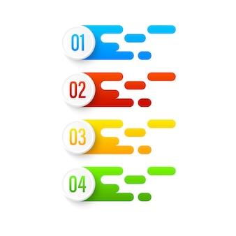 Set di banner di colore numero