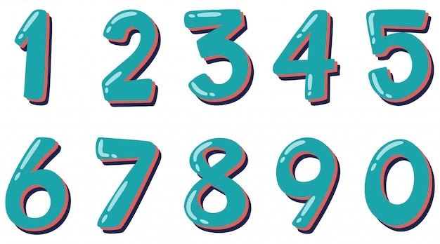 Numero uno a zero su bianco