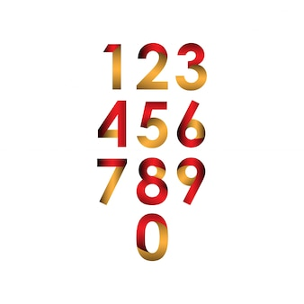 Illustrazione stabilita di progettazione del modello di vettore di numero