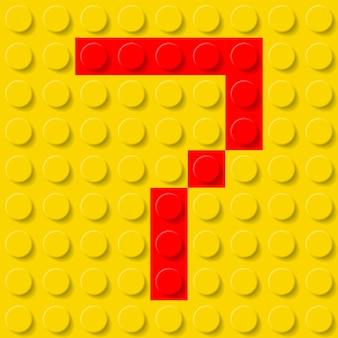 Numero sette in kit di costruzione.