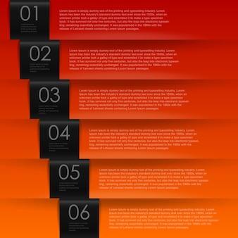 Modello di infografica banner numerati per la presentazione