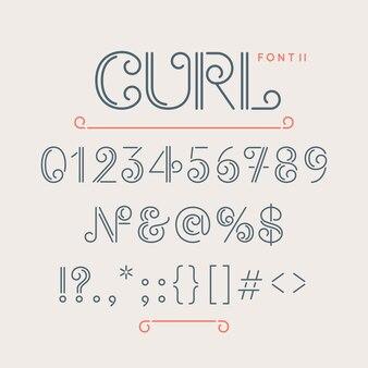 Numeri e caratteri extra per il font
