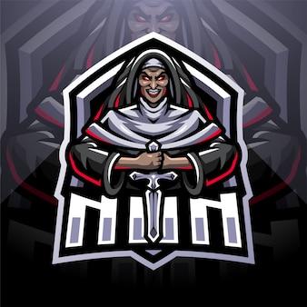 Suora esport mascotte logo design