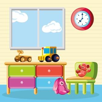 Giocattoli interni della scuola materna per bambini