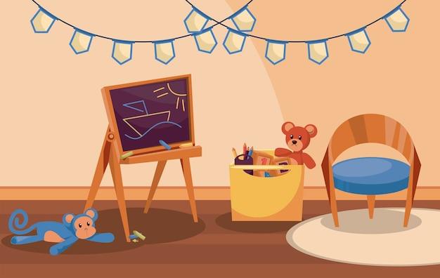 Scena della stanza della scuola materna