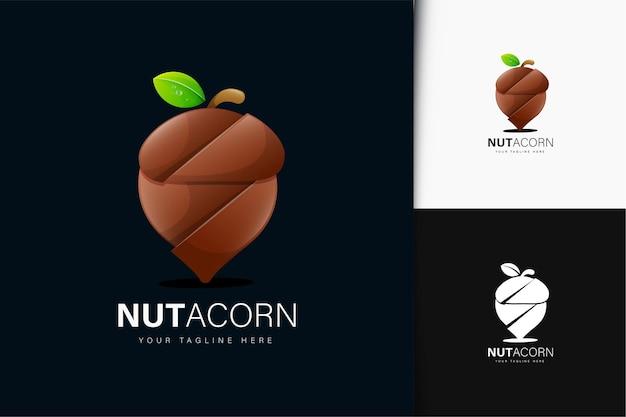 Design del logo dado ghianda con sfumatura