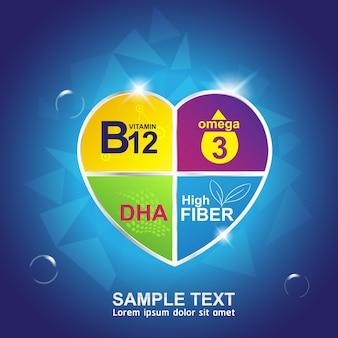 Banner di prodotti logo nutrienti