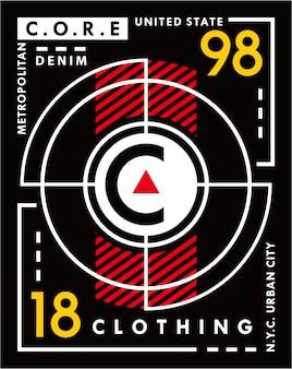 Abbigliamento di base di new york, grafico di progettazione dell'illustrazione di tipografia di vettore