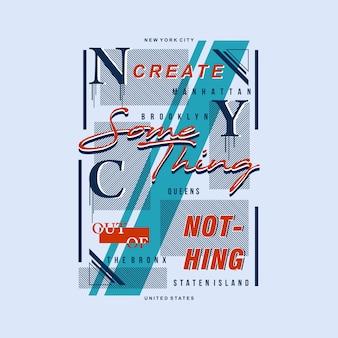 Testo tipografico della maglietta grafica di new york