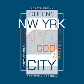 Stato d'animo di nyc per il design della maglietta