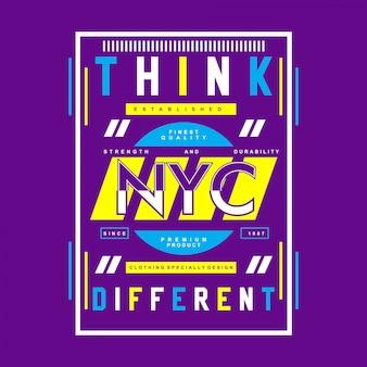 Vettore grafico di progettazione della maglietta di parole di nyc