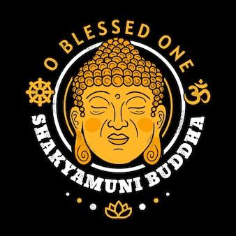 O beato buddha shakyamuni stampato