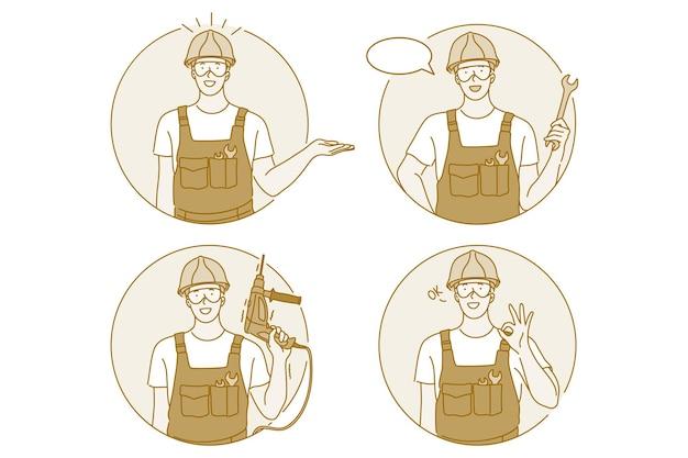 Occupazione, lavoro, concetto di lavoratore manuale.
