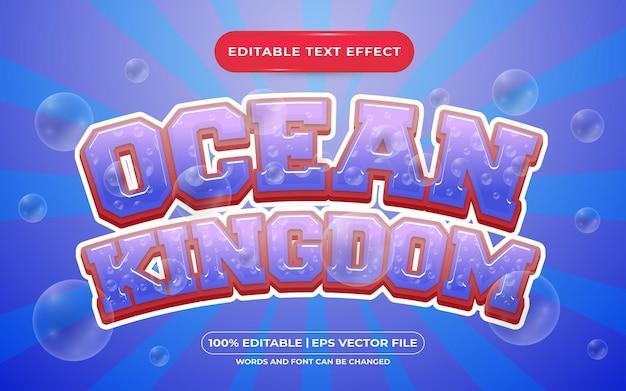 Stile del modello di effetto di testo modificabile del regno dell'oceano