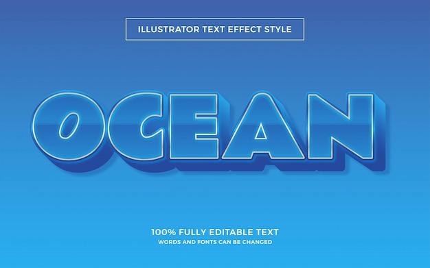 Effetto carattere stile oceano modificabile facile