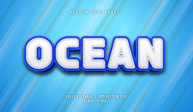 Effetto testo oceano stile di testo modificabile