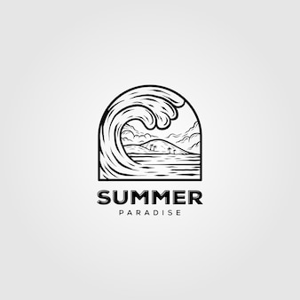 Logo delle onde dell'oceano