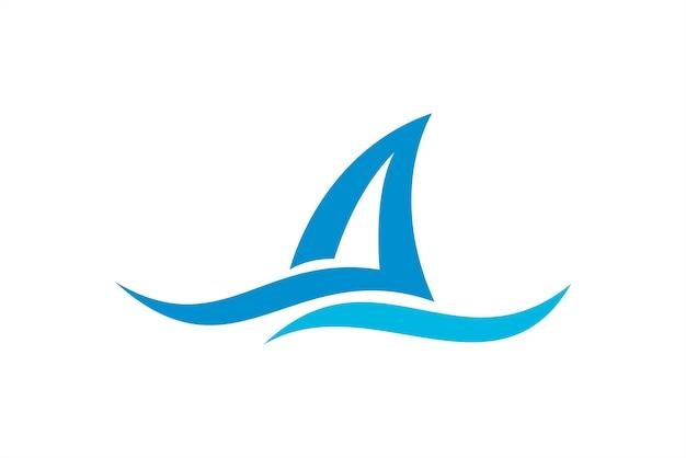 Modello di logo natura onda oceanica