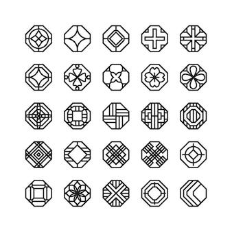 Icona di vettore geometrico ottagono