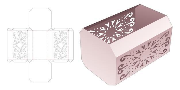 Vassoio ottagonale con sagoma fustellata mandala stampata