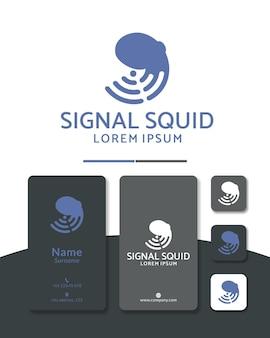 Octo wifi o design del logo del segnale octo