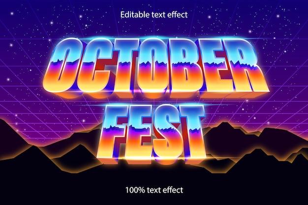 Festa di ottobre effetto testo modificabile stile retrò