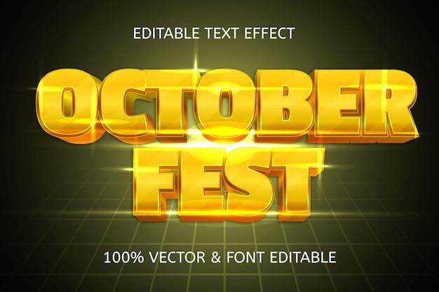 Effetto testo modificabile di lusso in stile festa di ottobre