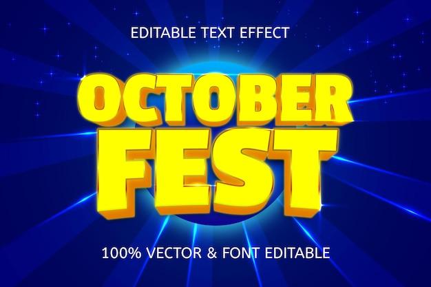 Effetto di testo modificabile al neon in stile festa di ottobre