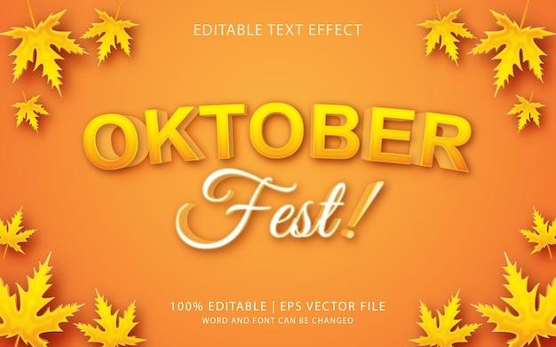 Festa di ottobre, stile di testo 3a combinazione di stile effetto colore giallo