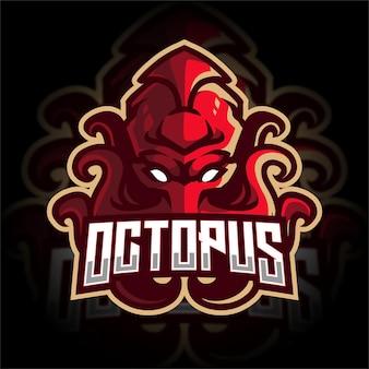 Logo di gioco esport di octopus