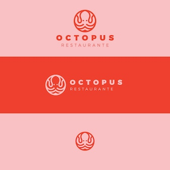 Concetto di design del logo di polpo