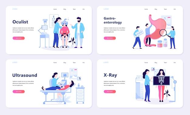 Oculista e ultrasuoni, radiografia e gastroenterologia