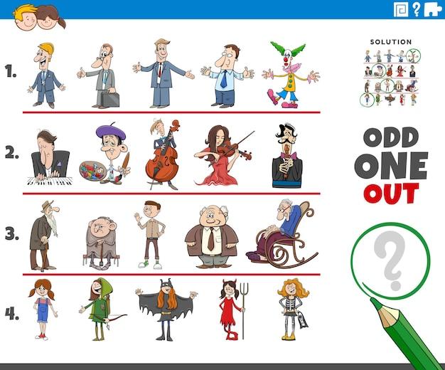 Uno strano gioco di immagini con personaggi dei cartoni animati
