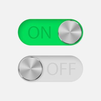 Attiva e disattiva i pulsanti dell'interruttore.