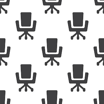 Sedia da ufficio, motivo vettoriale senza soluzione di continuità, modificabile può essere utilizzato per sfondi di pagine web, riempimenti a motivo