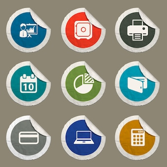 Set di icone di office per siti web e interfaccia utente