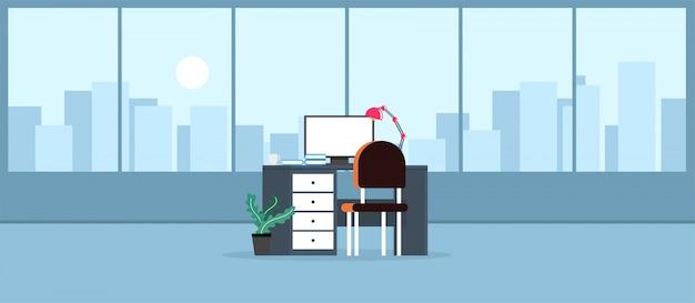 Ufficio che impara e insegna a lavorare usando un'illustrazione del programma di progettazione Vettore Premium