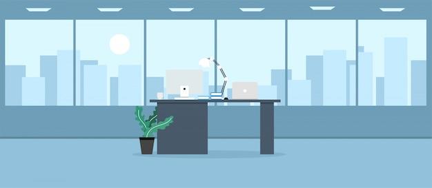 Ufficio che impara e insegna a lavorare usando un programma illustrato