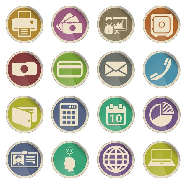 Ufficio semplicemente set di icone vettoriali