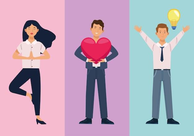 Ufficio benessere tre persone