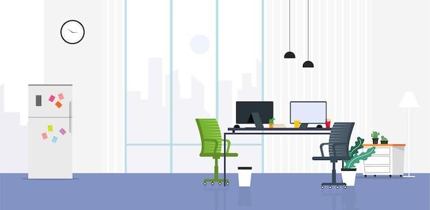 Illustrazione dell'area di lavoro dell'ufficio