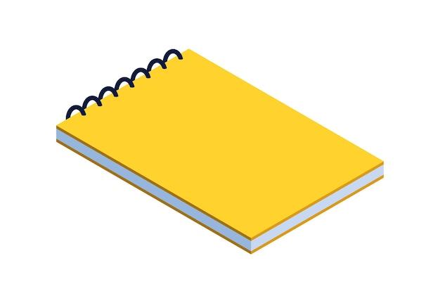 Educazione offline isometrica con il libro. studio classico a casa per studente. illustrazione vettoriale di istruzione a distanza