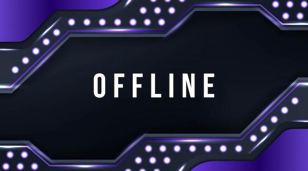 Sovrapposizione di sfondo viola del flusso del pannello offline