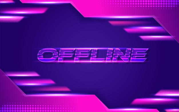 Sfondo banner contrazione offline