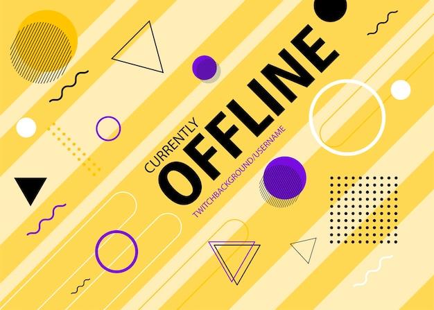 Banner di contrazione offline nel design di memphis vettore gratuito