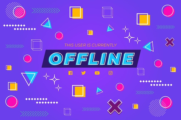 Banner twitch offline design memphis