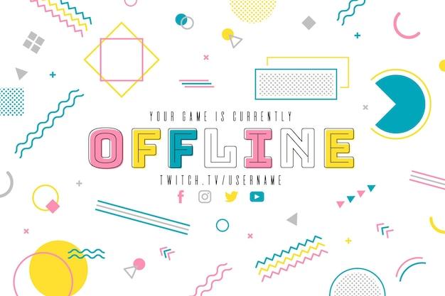 Banner twitch offline stile memphis