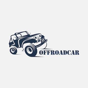 Logo auto fuoristrada, icona auto d'avventura